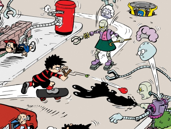 The Granformers invade Beanotown! Art ©DC Thomson & Co Ltd.